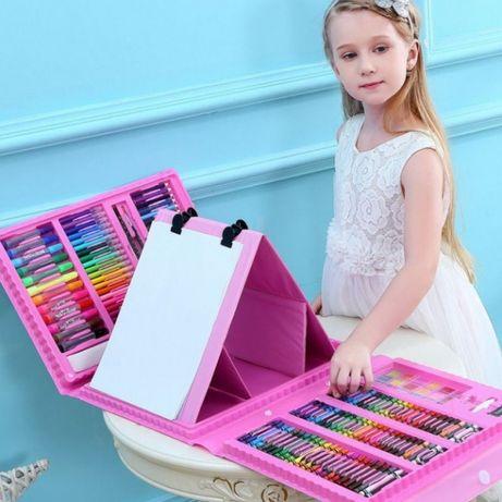 Детский набор для рисования на 208 предметов 2 цвета