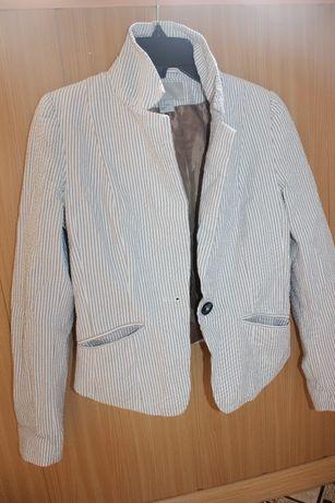 пиджак жакет бежевый в полоску XS_S 34-36 размер