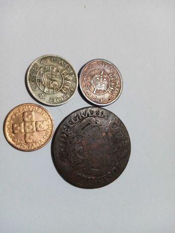 Lote de 4 moedas