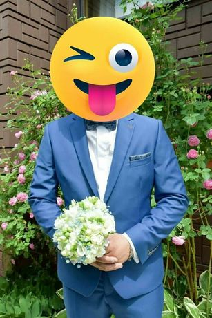 Piękny markowy garnitur ślubny.