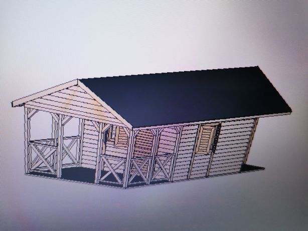 Sprzedam domek drewniany modułowy plan - dokumentacja wykonawcza