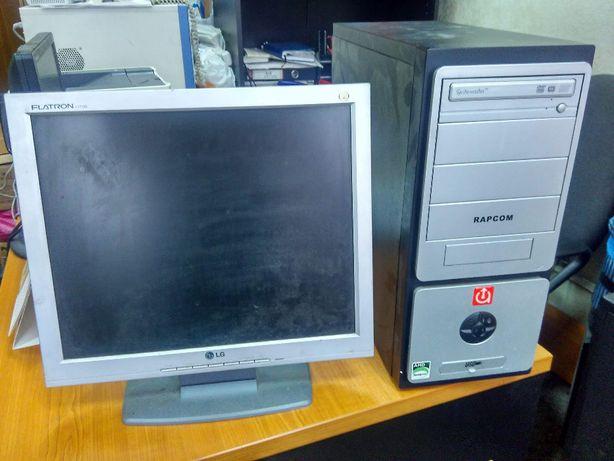 """Компьютер AMD Semporon 3000+ и монитор 17"""" LG L1715S"""