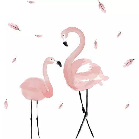Autocolante stick para parede flamingo