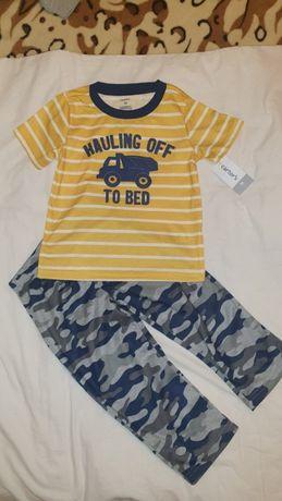 Прогулочный костюмчик, штаны + футболка Carters. Размер 2T, 92-9