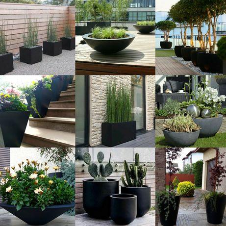 Вуличні бетонні вази від виробника.