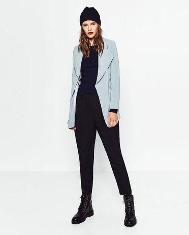 Blazer / Casaco azul claro aberto da Zara Tam: M Novo