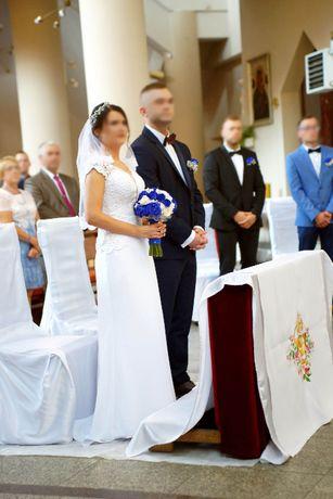 Przepiękna Suknia Ślubna, kształt syrenki, w idealnym stanie