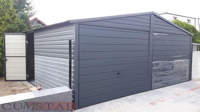 Garaż blaszany GRAFITOWY - 6x5m - Cumstal Garaże - wiaty, hale , kojce