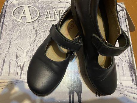 Школьные Кожаные туфли, размер 32