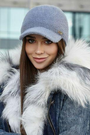 Вязаная зимняя кепка Ребекка