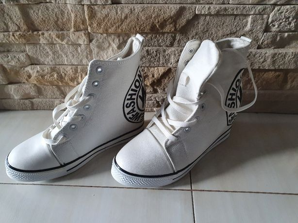 Modne Sneakersy Tlck Biały białe