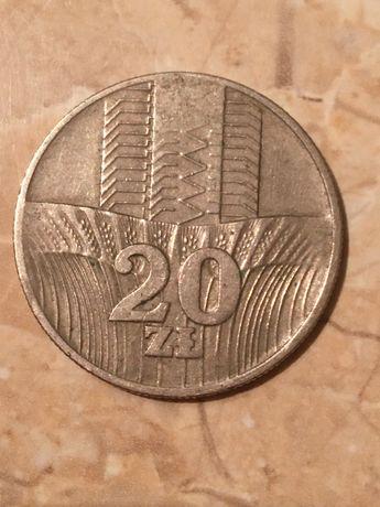 Moneta 20 zl z PRL-u z 1974 roku