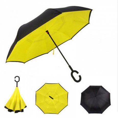 Зонт обратного сложения Up-Brella желтый SKL11