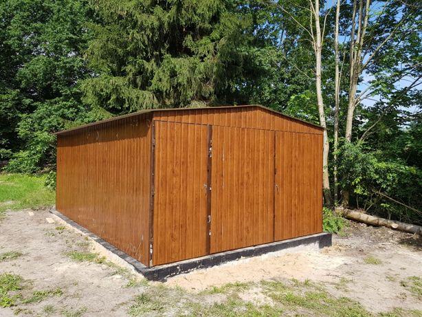 garaż blaszany blaszak garaż na budowę schowek konstrukcja stalowa 3x5