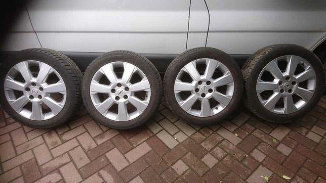 Felgi aluminiowe opony zima Opel 5x110r 17 ET 41 INNE różne