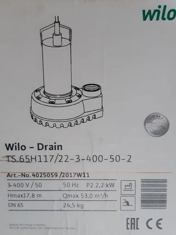 Насос погружной Wilo Drain TS 65H117
