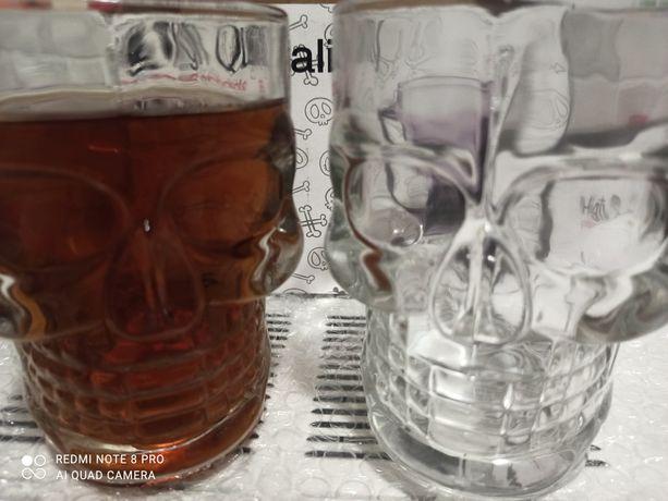 Пивные бокалы Череп набор 2 шт-500мл