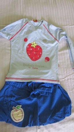 юбка и футболка кофта толстовка новые 5-6 лет