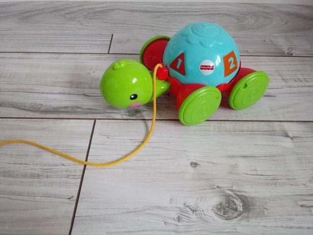 Jeżdżący żółw ze sznurkiem FISHER PRICE / zabawka