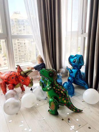 Шары динозавры фольгированные шары