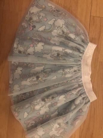 H&m spódniczka minnie jednorozec unicorn 122/128