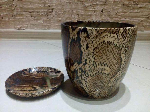 Okazja! sprzedam nowe ceramiczne doniczki skora węża
