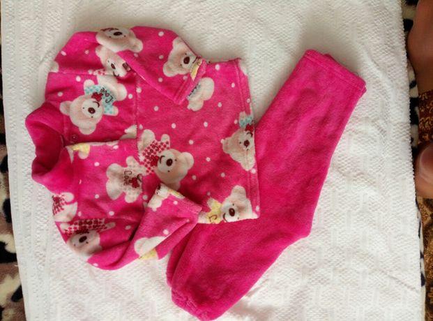 пижама теплая для девочки  92 98 104
