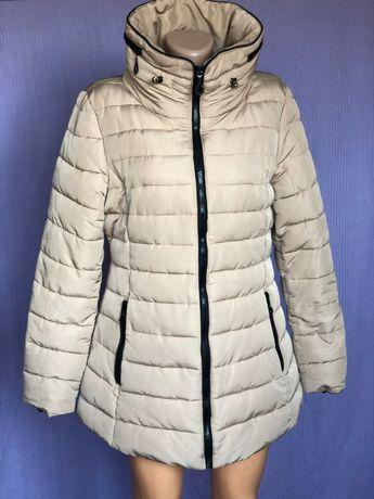 Куртка стеганая приталенная Пальто теплое на синтепоне