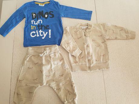 Zestaw 21 dres  Pinokio bluza spodnie pumpy koszulka rozm. 80