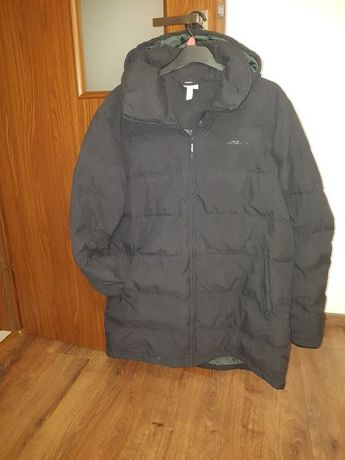 Czarna puch naturalny pikowana kurtka ADIDAS NEO XXL