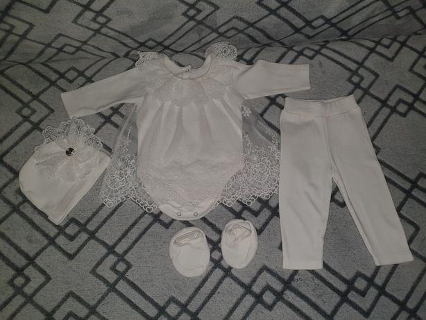 Платье комплект костюм на крещение выписку