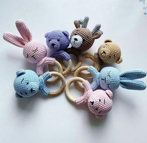 Іграшки ручної роботи брязкальце-гризунець для вашого малюка