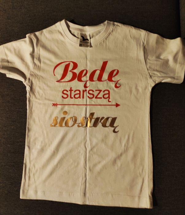 Koszulka będę starszą siostrę siostrą Sobin - image 1