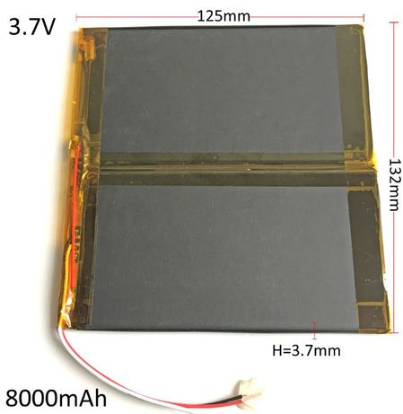 Bateria Recarregável 8000mAh 3.7V Li-Po para Tablet - NOVO