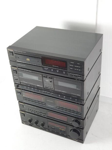 TECHNICS WIEŻA CAŁA CD Radio wzmacniacz tuner kaseta korektor MIDI
