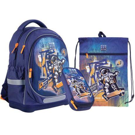 Школьный набор рюкзак + пенал + сумка Wonder Space Skating WK21-724S-2