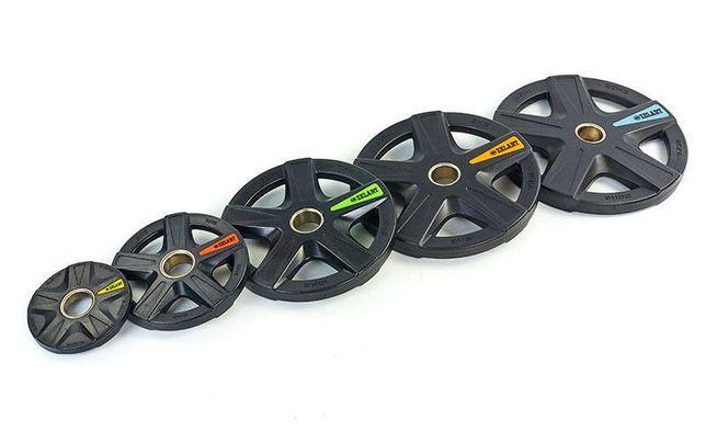 Блины (диски) полиуретановые обрезиненные d-51мм, с хватом