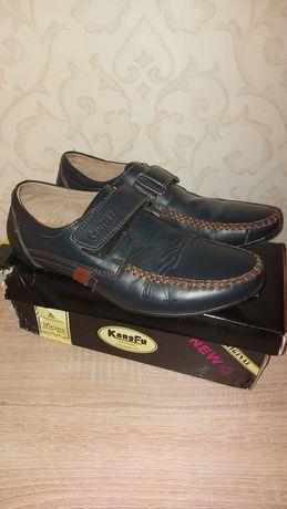 Туфли макасины кожаные Kangfu р 38 стелька 24.5 см