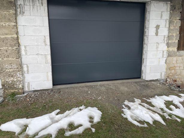 Brama garażowa segmentowa 2500x2125 antracyt ocieplana 40mm
