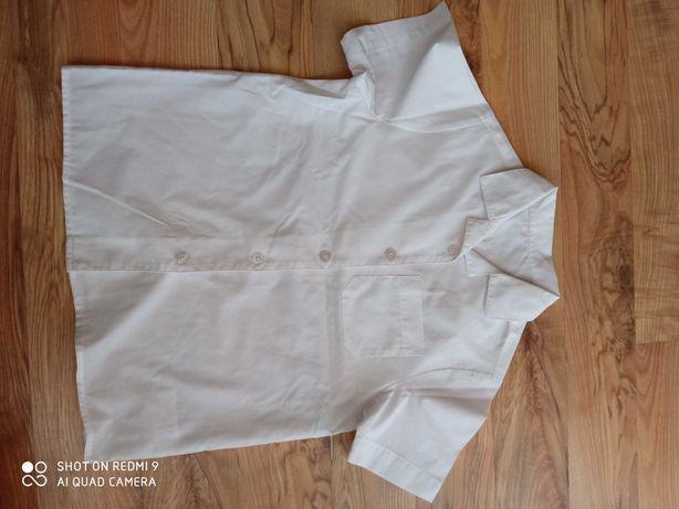 Koszula biała wizytowa z krótkim rękawem r. 122