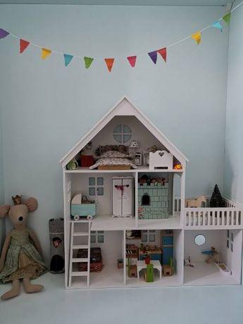 domek dla lalek, myszek Maileg drewniany, taras i schodki PRODUCENT