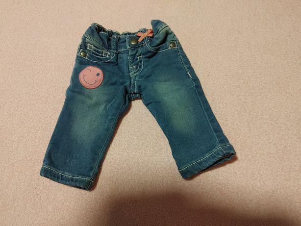 Jeansy dla niemowlaka r.52