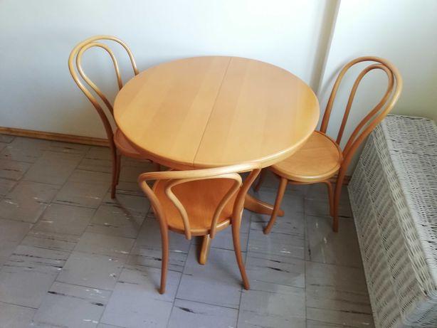 Okrągły stół rozkładany i 3 krzesła Radomsko