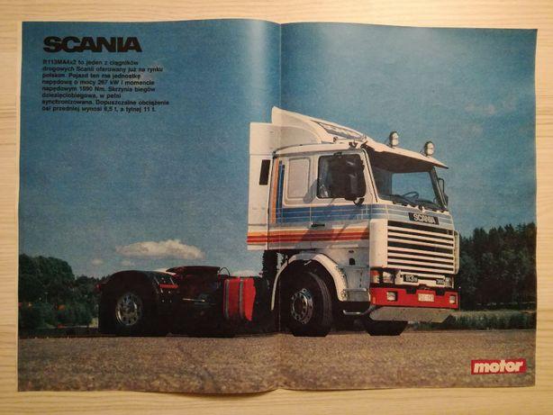 Plakat Poster Scania 113M 360 4x2 33,5cm x 47,5cm Ciężarówki Trucks