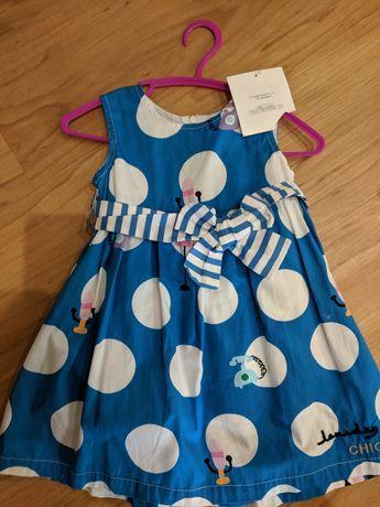 Нарядное новое платье на 2 года