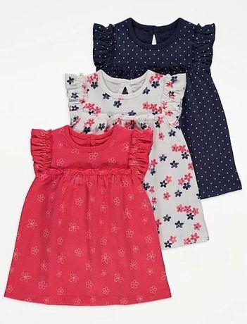 Красивые, хлопковые платья для девочек 18-24 от George