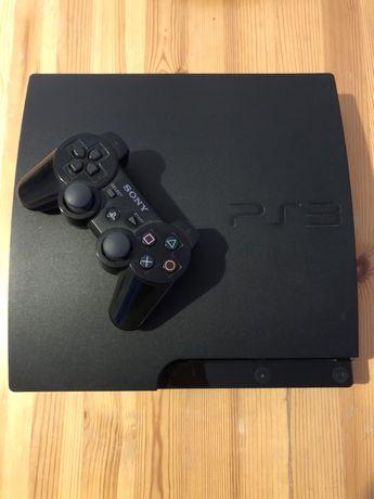 Ps3 slim 160 GB+pad+okablowanie+GTA5+FIFA17
