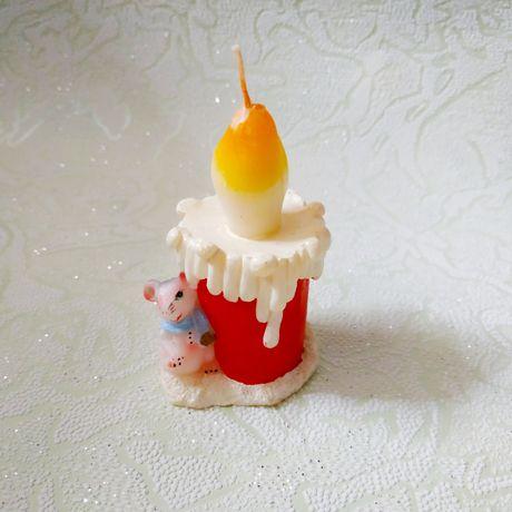 Свеча, свечка с мышкой, сувенир, декоративная, подарочная