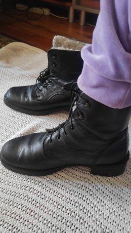 Ботинки кажанные, бу, 37-38 размера