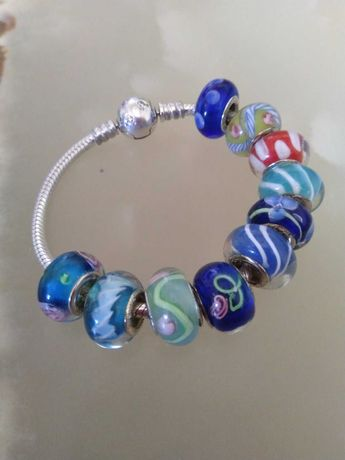 Муранки,шармы,бусинки на браслет Pandora(пандора)серебро 925